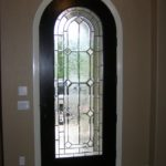 Custom Beveled Glass Entry Door