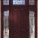 Leaded Stained Glass Entryway Door, Side Panels
