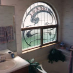 Art Nouveau Window, Stained Glass Design, Bathroom Design