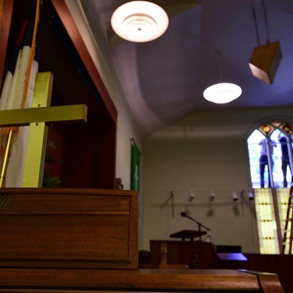 Hygiene-Methodist-Church-Stained-Glass-Restoration-ceiling