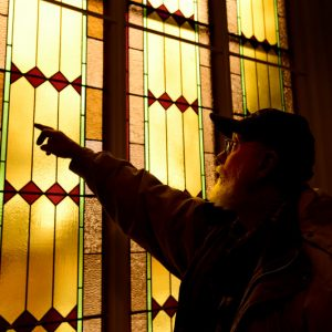 Hygiene-Methodist-Church-Stained-Glass-Restoration-inspection