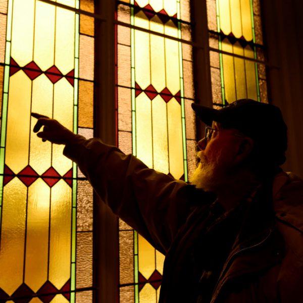 Hygiene-Methodist-Church-Stained-Glass-Restoration-inspection