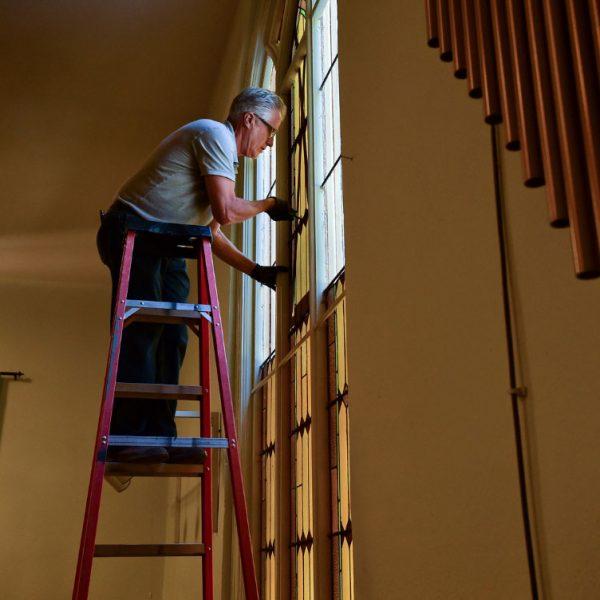 Hygiene-Methodist-Church-Stained-Glass-Restoration-installation